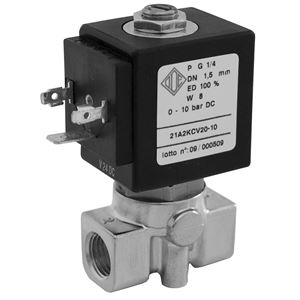 Direct Acting Industrial Solenoid Valves 2/2 NC Or NO