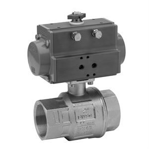 Pneumatically Actuated 2 & 3 Way Ball Valves