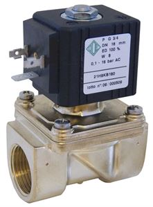 Servo Assisted Industrial Solenoid Valves 2/2 NC