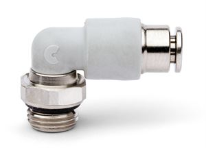 7522 Swivel Elbow With Self-Retaining Device Plastic Push In Fitting
