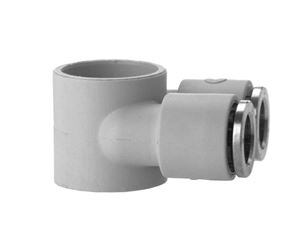 7640 Double Banjo Ring Plastic Push In Fitting