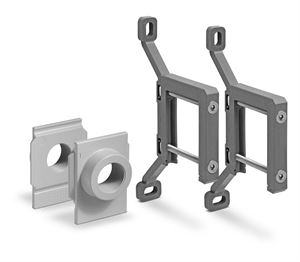 Series MX Rapid Clamp Kit With Wall Fixing Brackets And Flanges