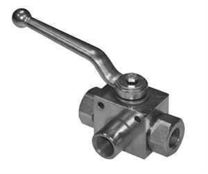 High Pressure Hydraulic 3-Way Ball Valves (with fixing holes)