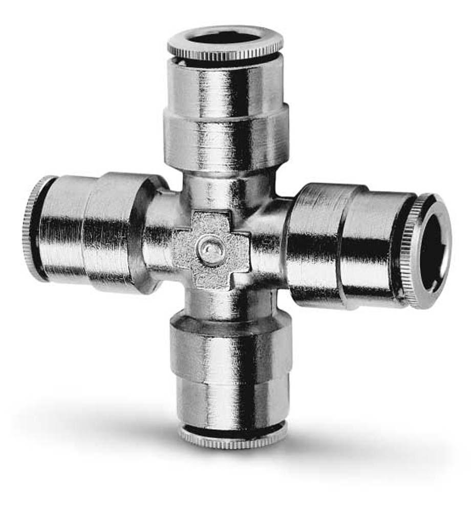 Equal tube cross connector camozzi pneumatics ltd