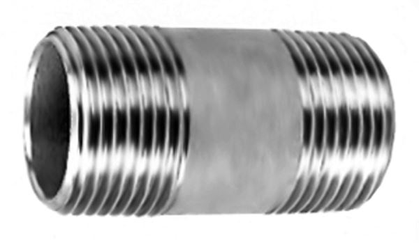 SS220 Barrel Nipple Stainless Steel Pipe Fitting